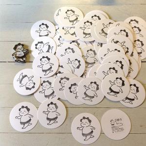 お相撲ちゃん 紙コースター 5枚1組 直径9cm 厚さ1.0mm 相撲グッズ yumenetshop