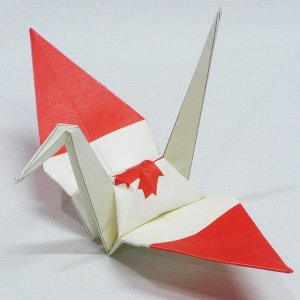 【ポスト便OK】 カナダの国旗をデザインしたおりづる折り紙です。 計50枚入り。 わかりやすくイラス...