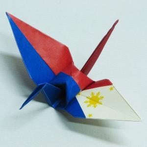 【ポスト便OK】 フィリピンの国旗をデザインしたおりづる折り紙です。 計50枚入り。 わかりやすくイ...