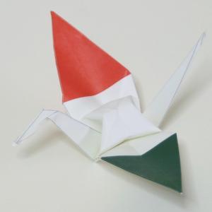 【ポスト便OK】 イタリアの国旗をデザインしたおりづる折り紙です。 計50枚入り。 わかりやすくイラ...