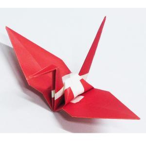 【ポスト便OK】 スイスの国旗をデザインしたおりづる折り紙です。 計50枚入り。 わかりやすくイラス...