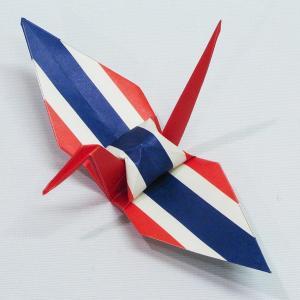 【ポスト便OK】 タイの国旗をデザインしたおりづる折り紙です。 計50枚入り。 わかりやすくイラスト...