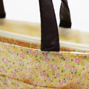 キュートな小花柄バッグインバッグ◇ビニール加工(2色有)【メール便無料】|yumenoren|05