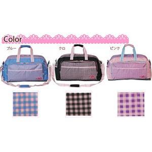 【sale】女の子に人気のおしゃれなチェック柄シュープCHOOP大容量2wayボストンバッグ(3色有)|yumenoren