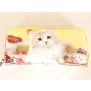 小猫転写ラウンドタイプ長財布|yumenoren