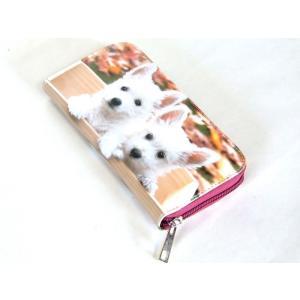 【sale】愛犬家におすすめ!小犬2匹転写ラウンドタイプ長財布【メール便無料】 yumenoren 02