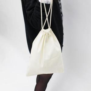 【2点セット】シンプルなコットン巾着バッグ◇旅行の荷物整理に!【メール便無料】 yumenoren 03