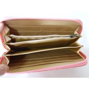 【訳あり】落ち着いた色合いのサーモンピンクのレディース格子柄ラウンドタイプ長財布|yumenoren|04