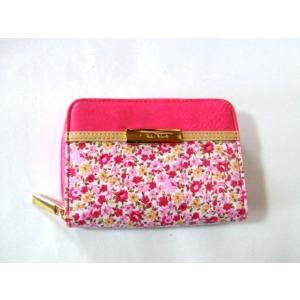 【訳あり】レディース小花柄コンパクトで使いやすい二つ折り財布(2色有)|yumenoren