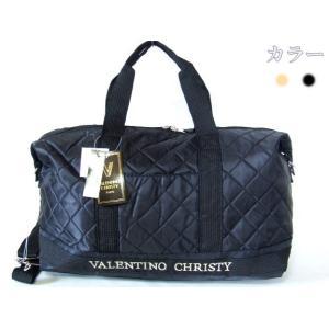 VALENTINO CHRISTY/キルト2wayボストンバッグ(ブラック)|yumenoren