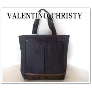 VALENTINO CHRISTYレディース英字ロゴテープトートバッグ/黒|yumenoren