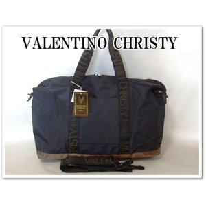 VALENTINO CHRISTYレディース英字ロゴテープ2WAYボストンバッグ/黒 yumenoren