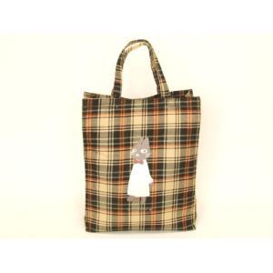 猫人間タータンチェックトートバッグ(2色有)|yumenoren