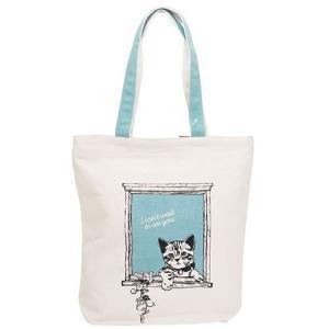 子猫プリント帆布トートバッグ|yumenoren