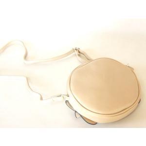 【sale】リボン飾り付き合皮ポシェット丸型 yumenoren 02