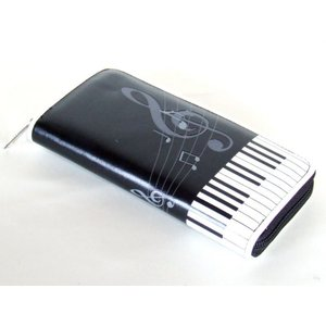 ピアノ鍵盤&音符ラウンド長財布(3色有)|yumenoren