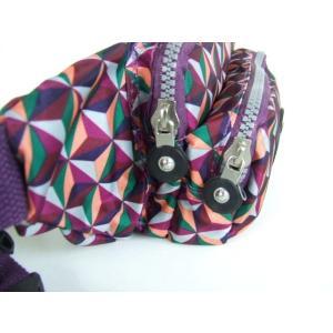 幾何学模様小振りサイズのウエストバッグ紫【メール便無料】 yumenoren 05