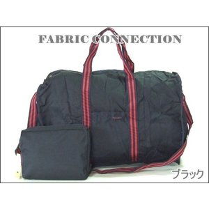 【sale】FABRIC折畳収納2WAYボストンバッグ(3色有)|yumenoren|02