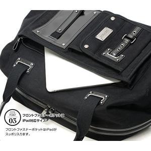 機能ポケット付きカッコイイ2wayボストンバッグ黒 yumenoren 05