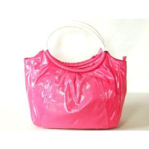 【訳有】鮮やかなピンク色のパンチング手提げバッグ|yumenoren