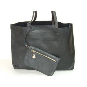 【sale】RANAポーチ付き軽量シンプルトートバッグ黒|yumenoren