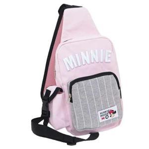 ミニーマウスMINNIE刺繍入りボディバッグ/ピンク|yumenoren