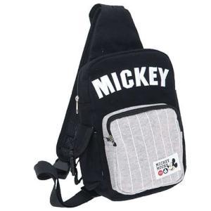 ミッキーマウスMICKEY刺繍入りボディバッグ黒|yumenoren