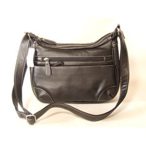 拡幅機能付きレディース合成皮革機能的な斜め掛けショルダーバッグ/黒|yumenoren