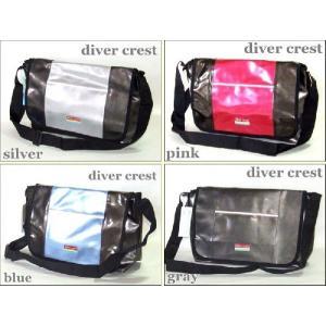 diver crest/エナメルメッセンジャーバッグL(4色有)|yumenoren
