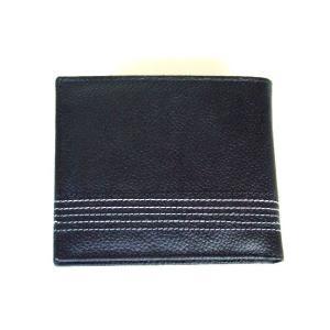 5本ステッチライン牛革二つ折り財布BOX(2色有)|yumenoren