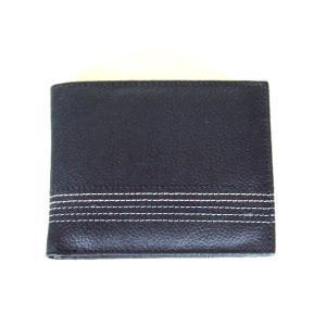 5本ステッチライン牛革二つ折り財布(2色有)【メール便無料】|yumenoren