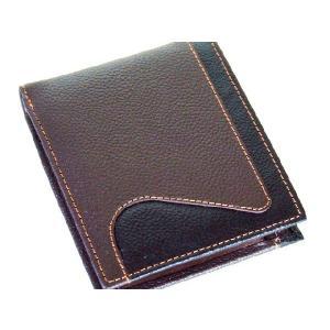 2枚重ねBOX牛革二つ折り財布メンズ(2色有)|yumenoren
