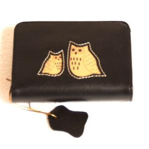 レディース向けコンパクトで使いやすい化粧箱入りふくろう本革がま口二つ折り財布(2色有) yumenoren 04