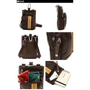 【sale】メンズCORE合成皮革おしゃれなラインデザイン3wayシザーバッグ(4色有)【メール便無料】|yumenoren|03