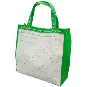 【sale】クローバープリントのおしゃれなレディース向けキャンバストートバッグ/緑【メール便無料】|yumenoren