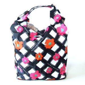 【sale】フラワーチェック携帯エコバッグ(2色有)【メール便無料】|yumenoren