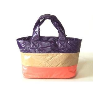 【sale】レディース中綿入り天ファスナー3色小さめトートバッグ/ピンク|yumenoren