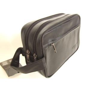 便利な2ルーム合皮セカンドバッグ(2色有)|yumenoren