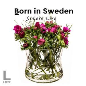 北欧雑貨 Born in Sweden  スフィア・ベース(L) ゴールド Sphere Vase ...