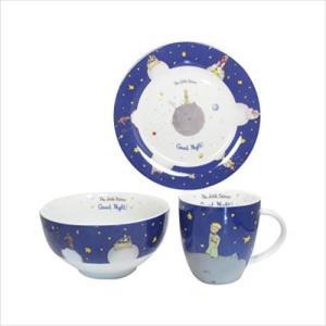ドイツの老舗陶磁器メーカー・KONITZ社のマグカップ、プレート、ボウルの3点セット。星の王子さまの...