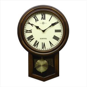 さんてる 日本製 スタンダード 電波振り子時計 (丸型) アンティークブラウン SR06-R (ローマ文字) (APIs) yumeoffice