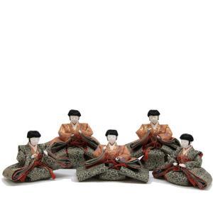 雛人形 アウトレット品 五人囃子単品 七寸 幅108cm  ...
