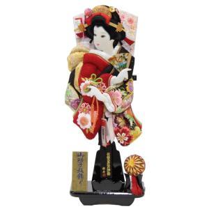 羽子板 台飾り 極上刺しゅう桜の舞 (TO2104) 15号...