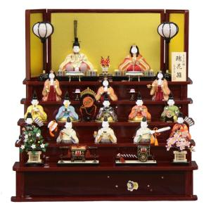 雛人形 木目込み 十五人揃 五段飾り 瑞花雛 1318 3mk2 真多呂
