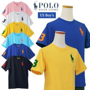 ラルフローレン Tシャツ 半袖 メンズ レディース ビッグポニー刺繍 2018年春の新色 POLO by Ralph Lauren Boy's #323690087|yumesse