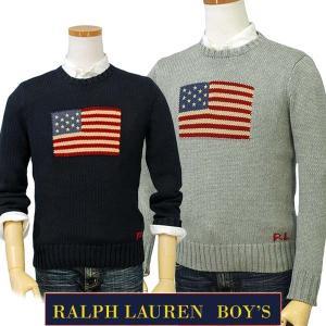 ラルフローレン フラッグセーター 2017秋の新作 POLO by Ralph Lauren Boy's USAフラッグ コットンセーター 送料無料 323668285|yumesse