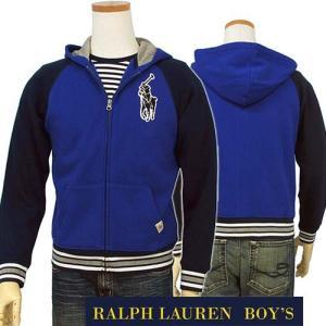 ラルフローレン パーカー ビッグポニーアップリケ フルジップパーカー メンズ レディース 兼用 POLO by Ralph Lauren Boy's|yumesse