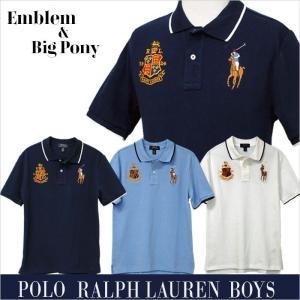 ラルフローレン ポロシャツ 半袖 メンズ レディース ビッグポニー エンブレム  2019年春の新作 POLO by Ralph Lauren Boy's|yumesse