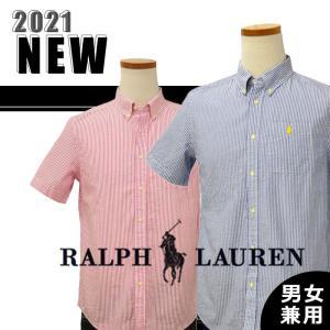 ポロラルフローレン シャツ 半袖 メンズ レディース 2021春新作 綿100% カジュアル ストライプ ブランド #323836577 yumesse