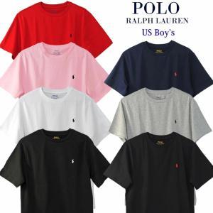 ラルフローレン Tシャツ 半袖 メンズ レディース ワンポイント刺繍 綿100% 定番シンプルTシャツ POLO Ralph Lauren Boy's 323674984|yumesse
